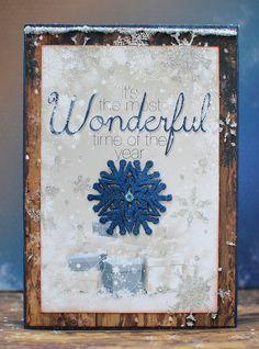 Wonderful Card by Ilene Tell using BoBunny Sleigh Ride Collection. #BoBunny @il