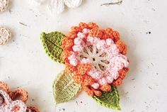 Corsage crochet pattern for British Flowers Week: Day 5