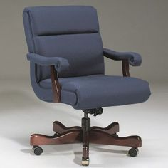 Triune Business Furniture Executive Chair Upholstery Color: Luggage, Frame Finish: Walnut, Tilt Mechanism: Included