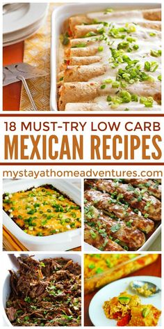 18 Low Carb Mexican Recipes You HAVE to Try! - Don't sacrifice flavor just because you're watching your carb intake. These low carb Mexican recipes are real crowd pleasers!