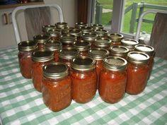 Sauce à spaghetti à l'autoclave Marinade Sauce, Spaghetti Sauce, Salsa, Meal Prep, Marie, Mason Jars, Canning, Photos, Food