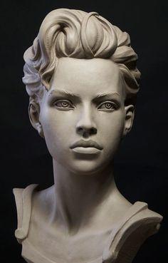 Statues For Garden # Character Modeling, Character Art, Statues, Sculpture Head, Sculpture Portrait, Clay Sculptures, Zbrush, Woman Face, Amazing Art