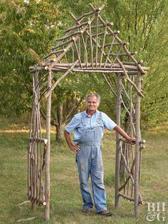 Add year-round interest to your landscape with a willow arbor. We'll show you how you can easily build one yourself.