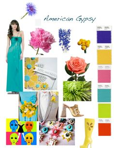 ~American Gypsy~ Inspired by Hodgepodge collections, graphic floral motifs, dip dyes and tie dyes, crochet and embroidery, witty animals an. American Gypsy, Dip Dye, Floral Motif, Wedding Designs, Strapless Dress, Bloom, Color Tones, Trends, Embroidery