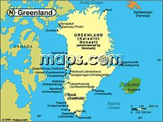 Map Of Greenland Cities Google Search MAPS Pinterest - Map of greenland