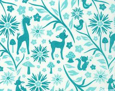'Woodland Tails' collection by Sheri Berry Designs for Riley Blake Designs; the only thing that's weird is why is there a giraffe in the mix?