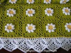 How to Make Crochet Blanket - Pattern free Magia Do Crochet, Crochet Yarn, Free Crochet, Knitted Baby Blankets, Soft Blankets, Crochet Blanket Patterns, Knitting Patterns, Crochet Curtains, Daisy