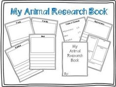 Animal Research template (freebie)