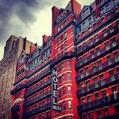 Hotel Chelsea #nyc  When I was in New York in 2009, I made an effort walking 10 minutes to be there just for a look.