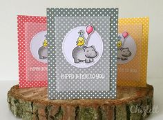 Lawn Fawn hippo birdie to you! | Emma Chizlett | Flickr