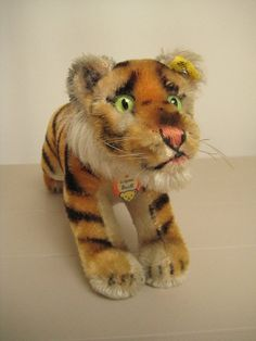 In my #ETSY Shop: #Steiff Vintage 12 Inches Long Running Tiger Cub - Jungtiger - 1954 to 1967 - So Handsome!