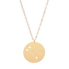 Gemini Necklace Gold Plate