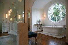 Luxurious bath--especially the window!!
