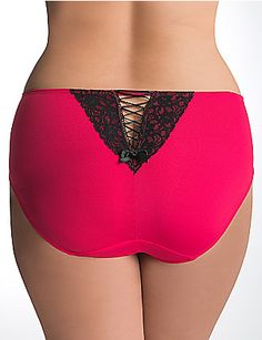 Plus Size Lace up Hipster Panty by Cacique Intimates. Size:  26/28