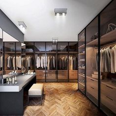 99 Fabouls Modern House Interior Ideas That You Must See 68 - topzdesign . Custom Closet Design, Walk In Closet Design, Bedroom Closet Design, Master Bedroom Closet, Home Room Design, Closet Designs, Home Interior Design, House Design, Interior Ideas