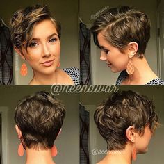 Pixie Hairstyles 315322411415134724 - 55 Best Pixie Cuts 2019 – smartmobilephone Source by FannyBoudier Short Curly Hair, Curly Hair Styles, Pixie Wavy Hair, Wavy Pixie Haircut, Poxie Haircut, Short Haircut Thick Hair, Pixie Updo, Short Hair Long Bangs, Pixie Hair Color