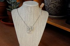 One Eyed Pirate Mummy Wire Wrapped Skull Necklace by MummyLust, $40.00