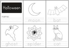Free Educational Halloween Handwriting Worksheet for Kids