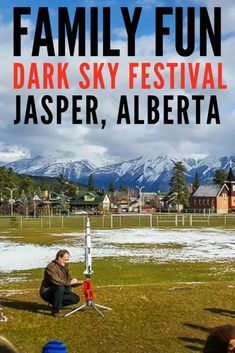 family fun at the Jasper Dark Sky Festival The Dark Sky Festival takes place over two weekends in October that are packed with events, speakers and activities that feature science, space and conservation. Jasper Dark Sky Preserve | Things to do in Jasper Alberta | Jasper Alberta | Jasper National Park | Northern Lights | Canada | Alberta | Canadian Rockies | Scenery |Where to Stay in Jasper National Park | Dark Skies | Jasper National Park Things To Do | Jasper National Park Winter | #travel…