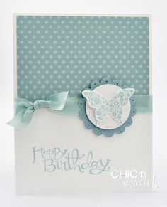 Papillion Potpourri card by Angie Kennedy Juda of Chic 'n Scratch. So simple! I love it!