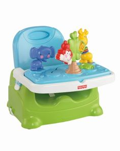 Fisher-Price Discover 'n Grow Busy Baby Booster Removable deluxe toy keeps baby occupied during meal preparation (or at restaurants). Removable seat back and height adjustment make seat the right size for baby as baby grows. Seat is easy to clean, with no crevices to trap crumbs. Fewer germs  sanitize feeding tray and toys in dishwasher. Folds compactly for storage and easy portability.  #Fisher-Price #BabyProduct