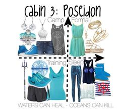 """""""Cabin 3: Poseidon"""" by aquatic-angel ❤ liked on Polyvore featuring Sugar NY, The Rise and Fall, Joe's Jeans, Converse, Bling Jewelry, Journee Collection, Prada, LeVian, Charter Club and NIKE"""