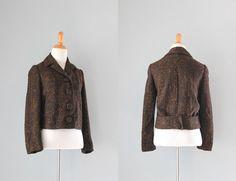 1950s Jacket / Vintage 50s Wool Betty Rose Jacket / Burnt Umber Fifties Jacket.