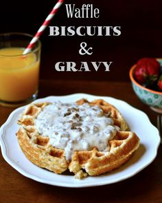 Yammie's Noshery: Waffle Biscuits and Gravy