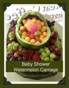 baby shower watermelon carriage