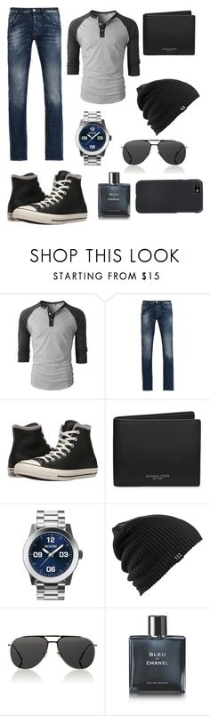 """""""Untitled #510"""" by annawell-1 ❤ liked on Polyvore featuring Armani Jeans, Converse, Michael Kors, Nixon, Burton, Christian Dior, Chanel, Shinola, men's fashion and menswear"""