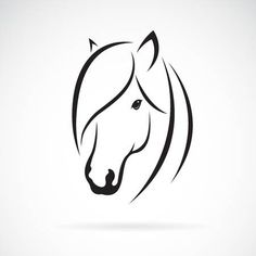 Horse Head, Horse Art, Fabric Painting, Painting & Drawing, Wood Burning Stencils, Horse Silhouette, Horse Drawings, Animal Sketches, Vector Art