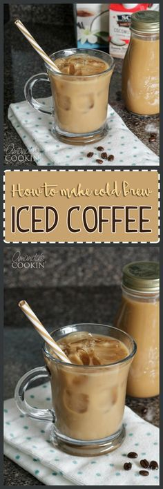 I love iced coffee, especially vanilla iced coffee! Making cold brew coffee is easy, but does require a little planning as the brew will need time to steep. #IcedCoffee