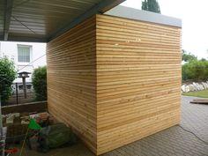 Carport-Hütte mit Rhombusleisten Bauanleitung zum selber bauen