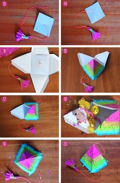 How to make a pinata for cinco de mayo photo instructions - Colorful part favors #CincoAvocados @Diane Haan Lohmeyer Avocado