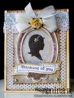 Love this card using Spellbinders Labels Ten and Ribbon Banners! Thanks Nina B!