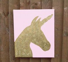 Unicorn canvas 25 x 30 Canvas Painting Wall Hanging by TobaisDream