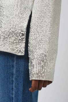 Foil Print Jumper - Knitwear - Clothing