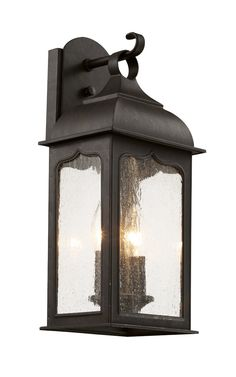 Seeded Masonic 2 Light Wall Lantern