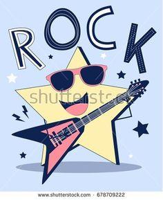 rock star illustration vector.