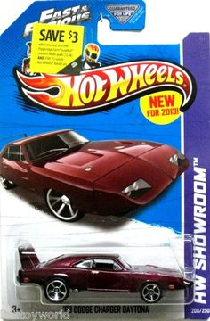 1969 Dodge Charger Daytona R/T Hot Wheels 2013 HW City FAST  FURIOUS Movie Car