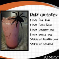 Spooky KINKY Liqueur KINKY Cauldron Halloween cocktail drink recipe