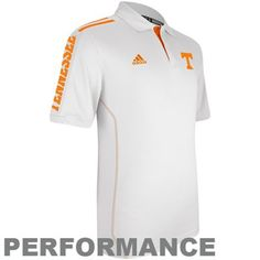 adidas Tennessee Volunteers 2012 Sideline Swagger Performance Polo - White