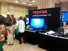 Toshiba booth at 2011 Conference, Memories, Shit Happens, Explore, Tv, World, Products, The World, Souvenirs