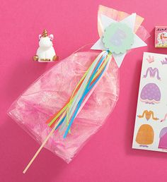 sparkle princess gift bag with sparkly wand attached