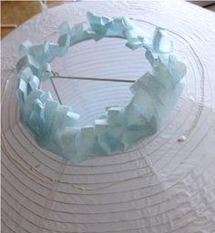 Paper lantern made w tissue paper 3