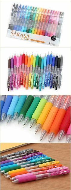 3x Sarasa Clip Pens Pastel Color Milky Blue Green 0.5mm Cute Kitty Zebra Set New