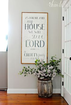 As For Me and My House Personalized Wood Sign