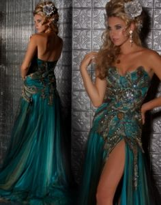 Trampy bridesmaid gowns.  Jordan your friends won't talk to you if u make them wear this!!!!