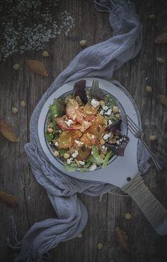 Ensalada de garbanzos, naranja y quinoa