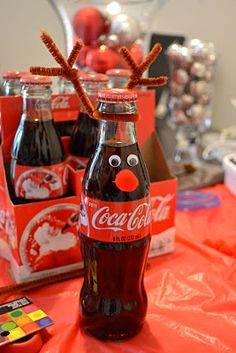 Coke bottle reindeer!